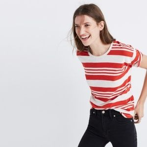 Madewell Whisper Cotton Crewneck Tee Stripe